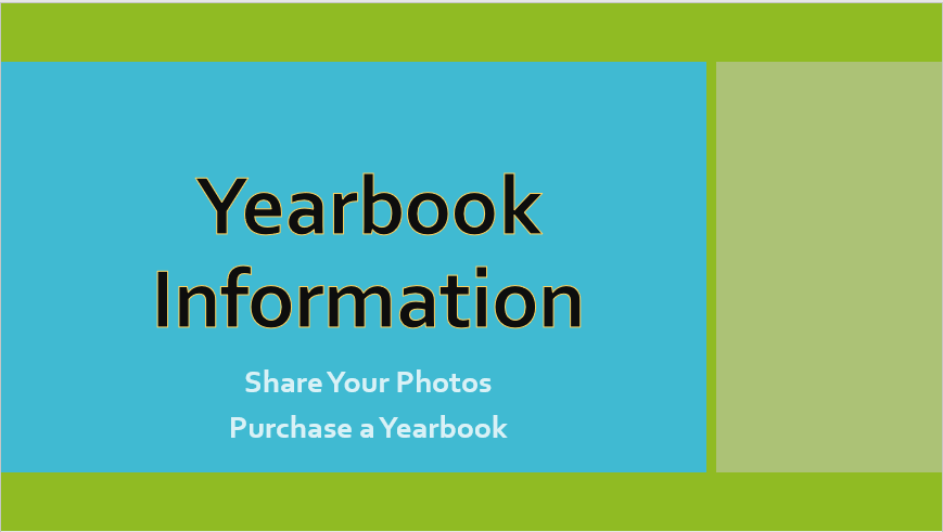 Yearbook information purchase and share photos