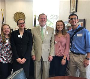 Senator Berger with GCS Students