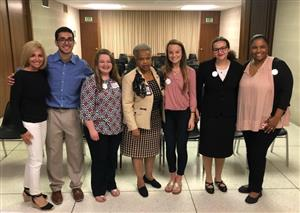 Senator Robinson with GCS Students