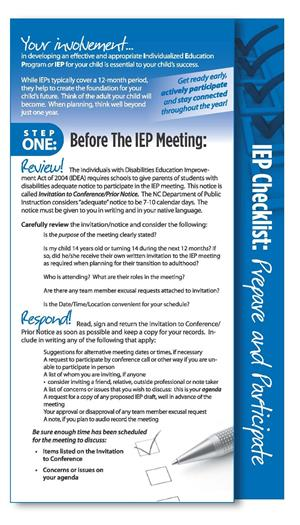 IEP Checklist from ECAC