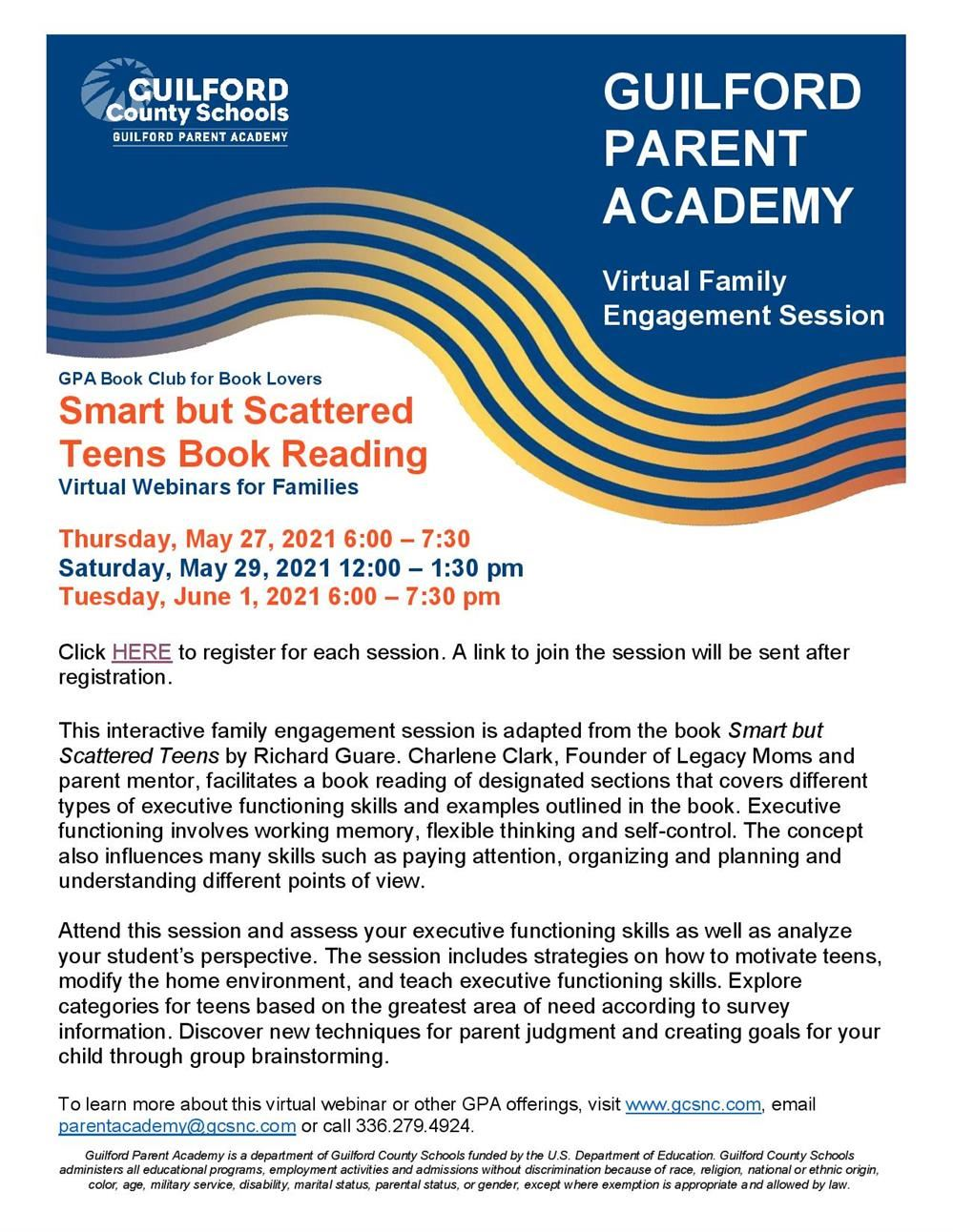 Smart but Scattered Teens - Book Reading