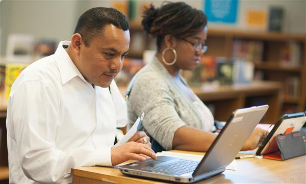 Parents check out GPA's digital resources