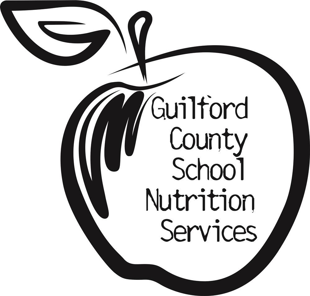 Apple with Guilford County School Nutrition written on it