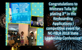 Student places 3rd at State FBLA Conference