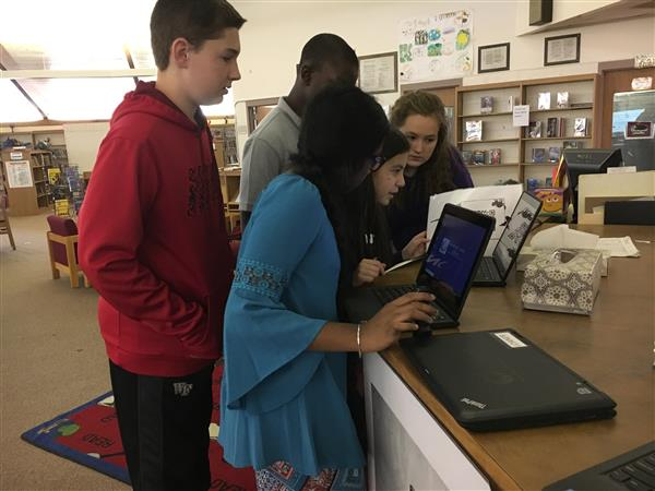 7th graders collaborate to solve a mystery