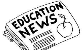 Education News Logo with apple