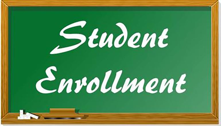 Student Enrollment sign