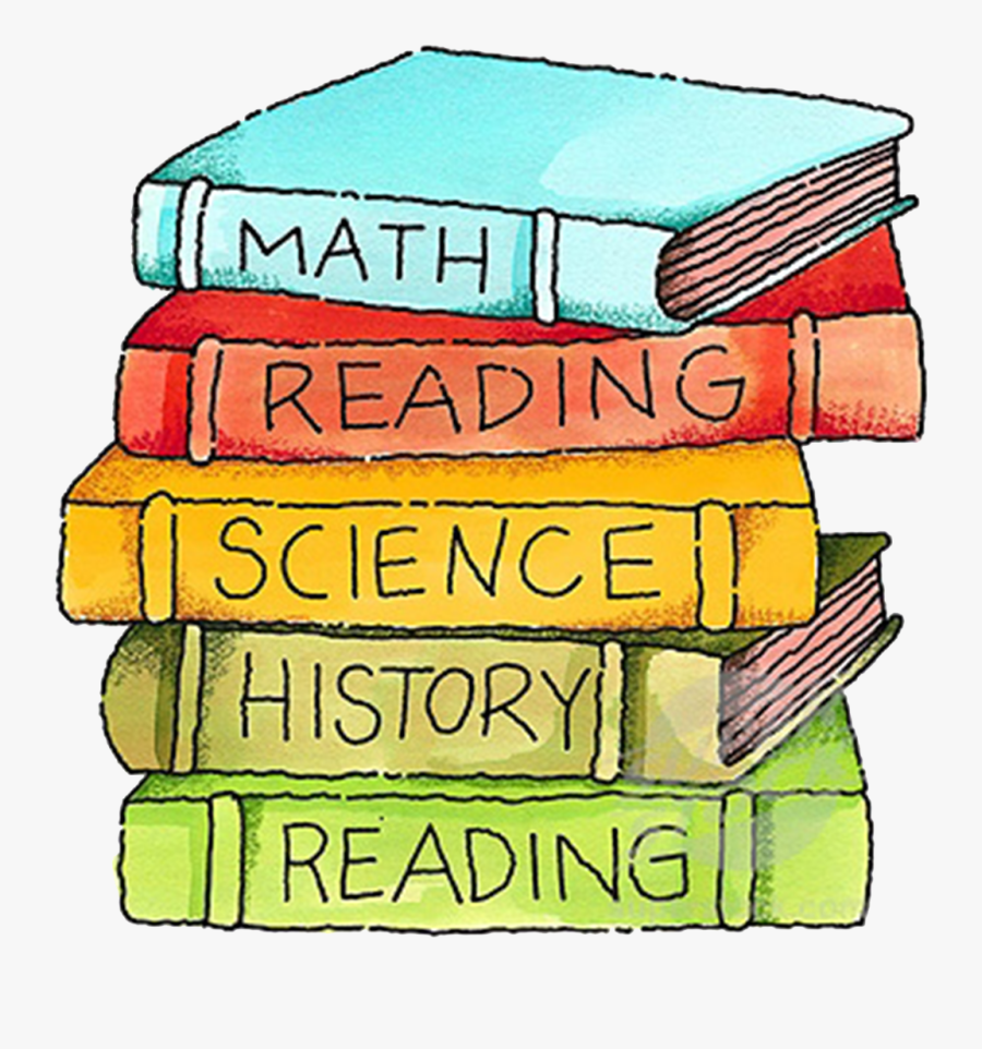 Math,Reading,Science, and History books