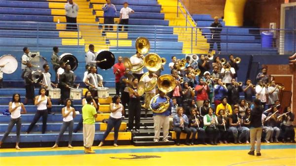 DHS band at assembly
