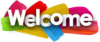 Image of the words welcome with paint strokes