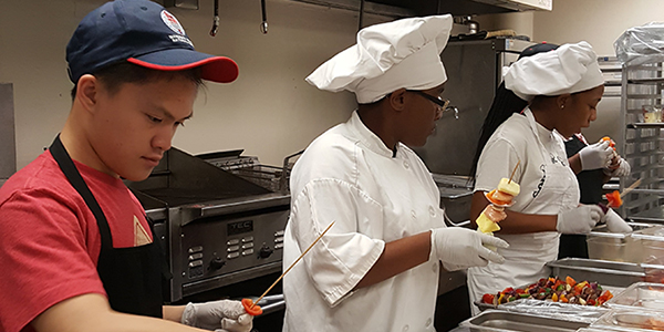 Culinary Students at Work