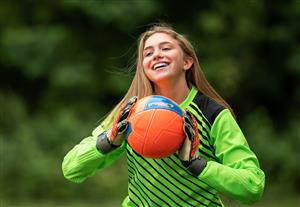 Caitlyn Smith playing soccer