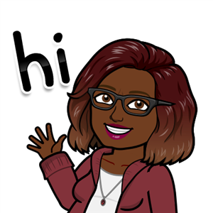 personal bitmoji saying hi