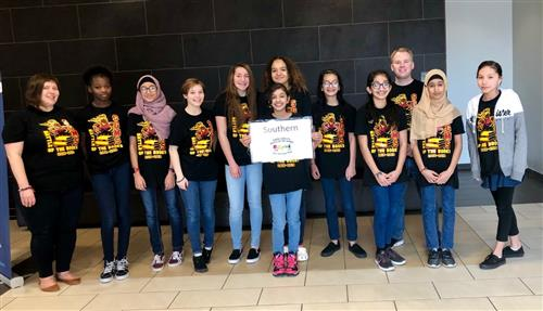 Battle of the Books students for Southern Middle