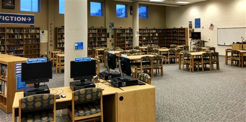 photo of classroom section of SGMS media center