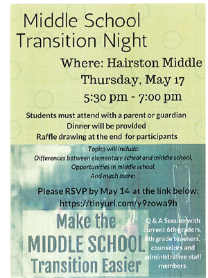 Transition Night At Hairston