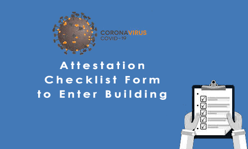 Staff & Guest Attestation Checklist Form to Enter Building