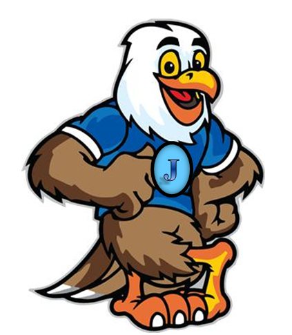 JES mascot, jeffrey eagle