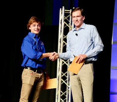 Kyle Kerestes accepts TSA Technology Award