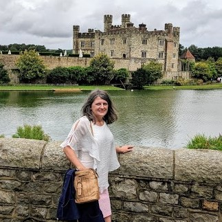 Picture of Mrs. McCune at Leed's Castle