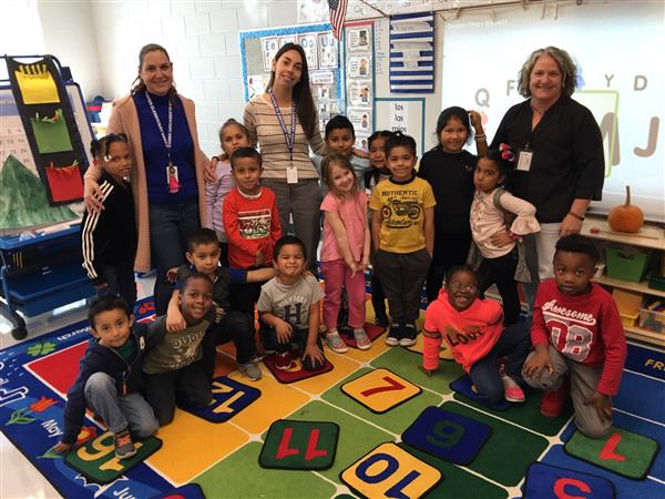 Students and Teachers in Dual Language Class