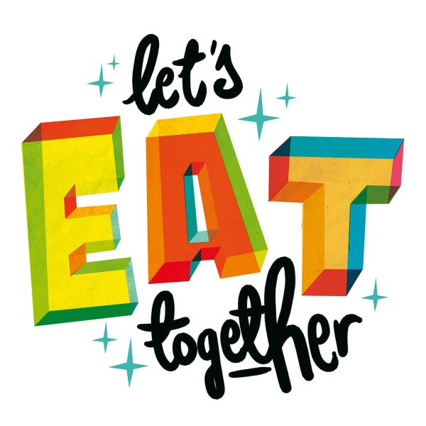 Let's Eat Together writing