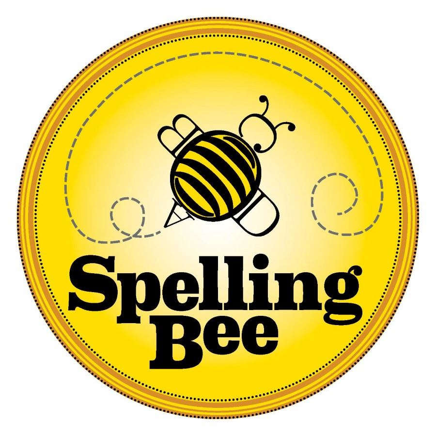 Bee Surrounded by a gold circle with the words spelling bee above the bee