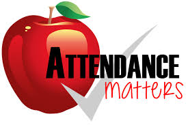 Attendance matters with check mark and an apple