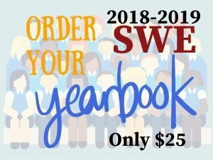 Order your SWE Yearbook for $25.