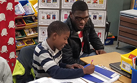 Irving Park Elementary students receive inspiration from NC A&T State University male mentors