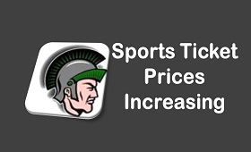 Sports ticket prices increasing