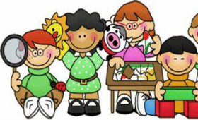Clipart of students working