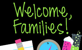 clip art that says welcome families