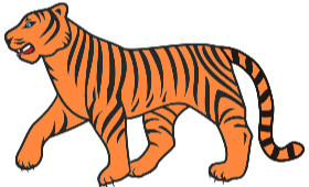 clip art of a tiger