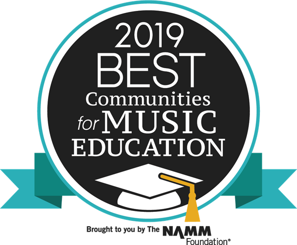 GCS receives best community for music education from the national music merchant association