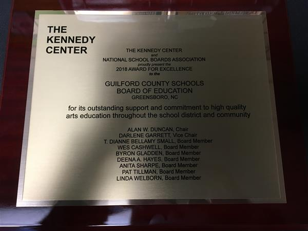 Plaque with the board members' names