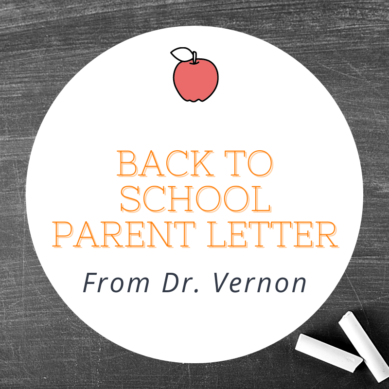 Back to School Parent Letter from Dr. Vernon