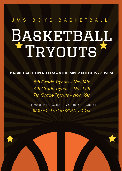 Boys Basketball Tryouts!