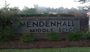 Mendenhall Middle School Sign