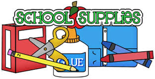 School Supplied clip art picture