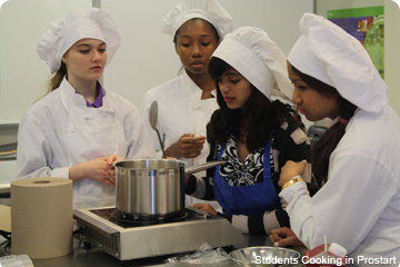 Students working in Culinary Prostart Class