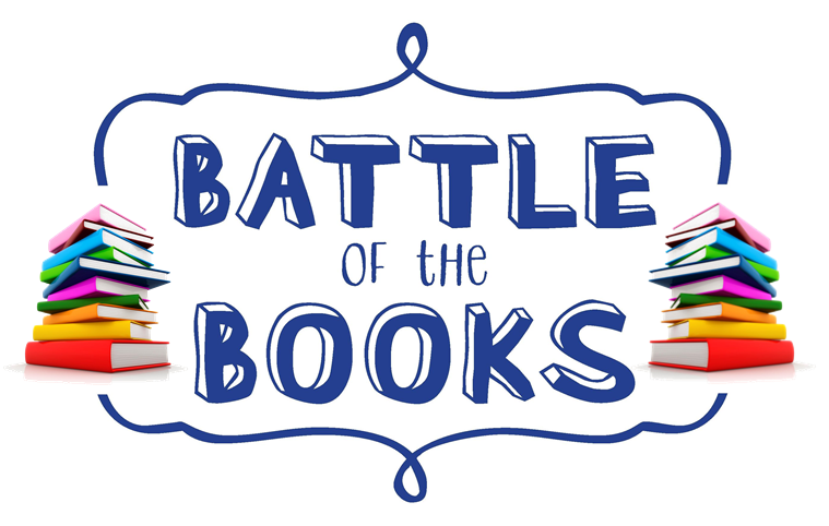 Battle of the Books sign with books
