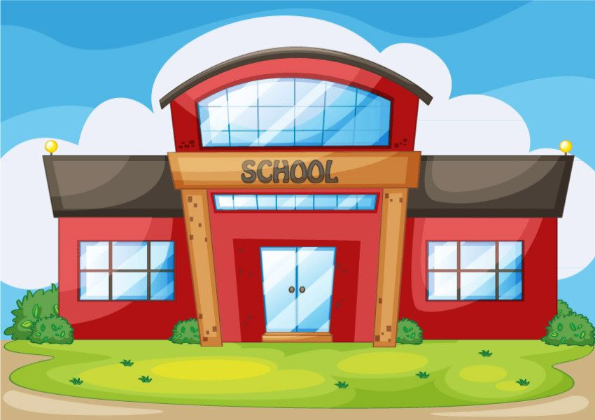 cartoon picture of school