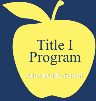 Logo for Title one program, apple in the background