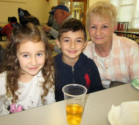 Students and Grandmother at Millis Rd. Elementary