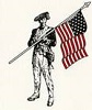 Murphey Patriot logo showing patriot with American flag