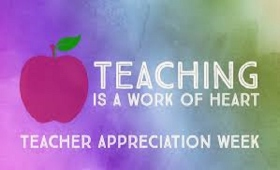 Teacher appreciation week with colorful background