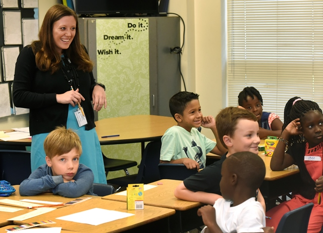 JES teacher in the classroom