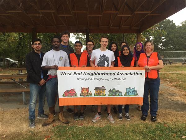 The High Point Big Sweep: Students helping in the West End Neighborhood