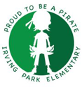 Irving Park Pirate logo in green